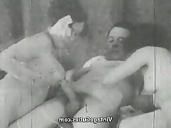 Blowjob, Mature, Old and Young, Threesome, Vintage