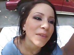 Brunette, Cumshot, Gangbang, Group Sex, Outdoor
