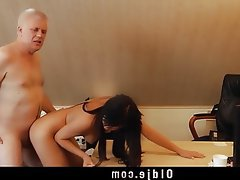 Brunette, Cunnilingus, Doggystyle, Old and Young, Teen