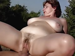 Outdoor, Old and Young, Blowjob, Cumshot