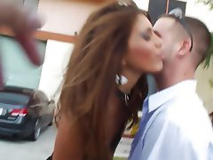Babe, Brunette, Blowjob, Big Cock, Pussy