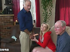 Blonde, Blowjob, Teen, Old and Young
