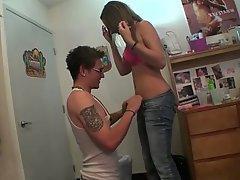 Amateur, Babe, Brunette, College, Couple