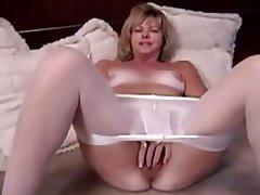 Blonde, Masturbation, Mature
