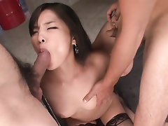 Asian, Ebony, Creampie, Stockings, Teen