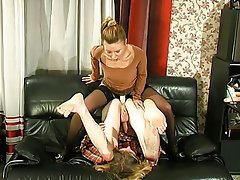 BDSM, Blonde, Femdom, Russian, Strapon