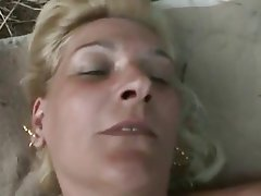 Blonde, Granny, Old and Young, Outdoor, POV