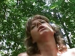 Brunette, Granny, Old and Young, Outdoor, POV