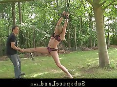 BDSM, Blonde, Outdoor, Spanking, Teen